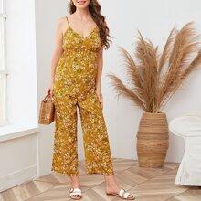 Umstandsmode Cami Jumpsuit mit Gaensebluemchen Muster