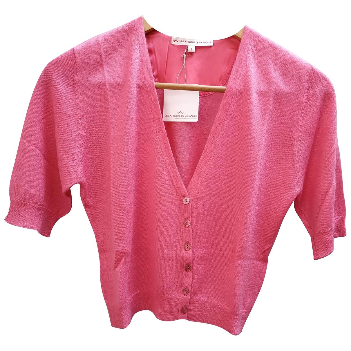 Les Ateliers De La Maille - Veste   pour femme en cachemire - rose