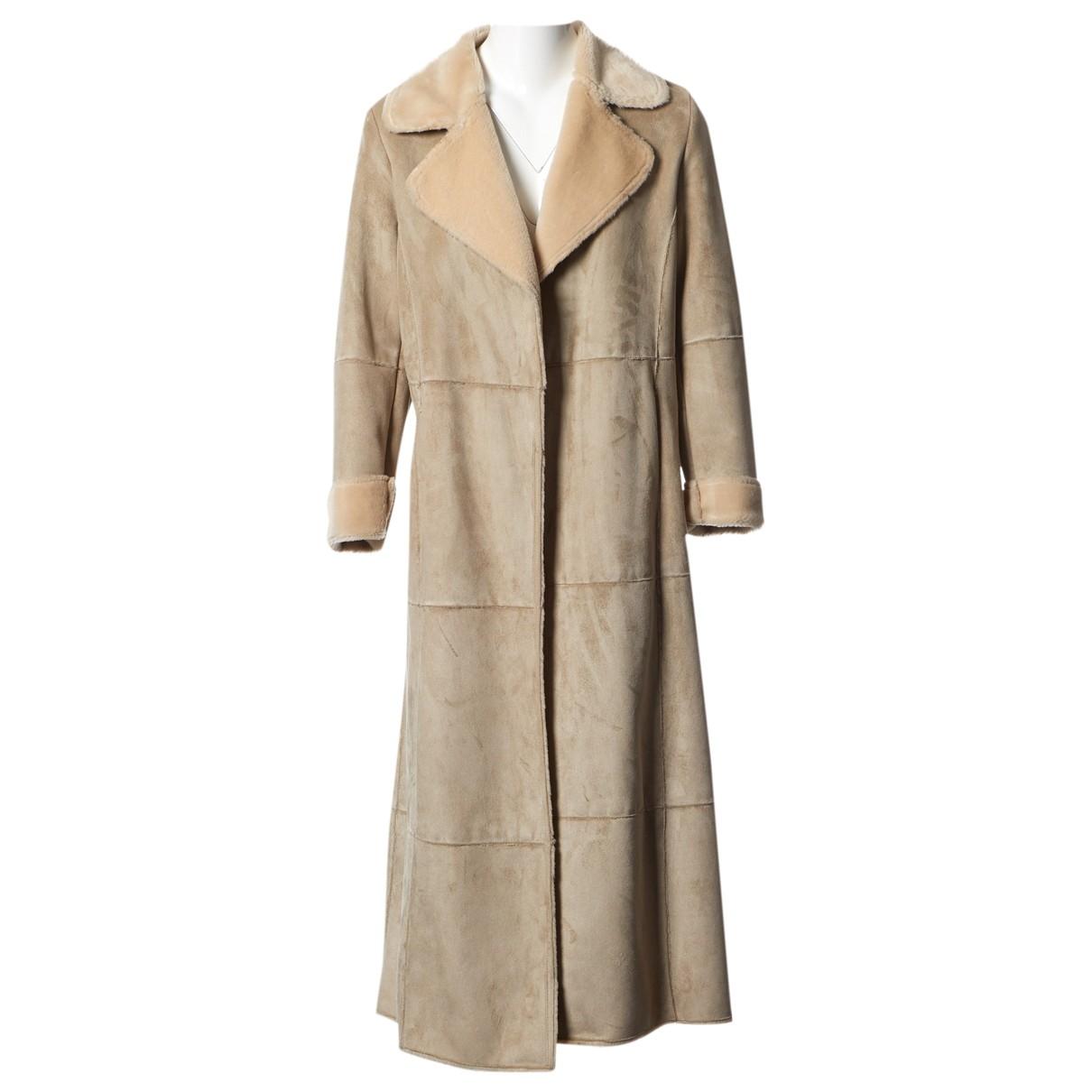 Balmain \N Beige coat for Women 36 FR