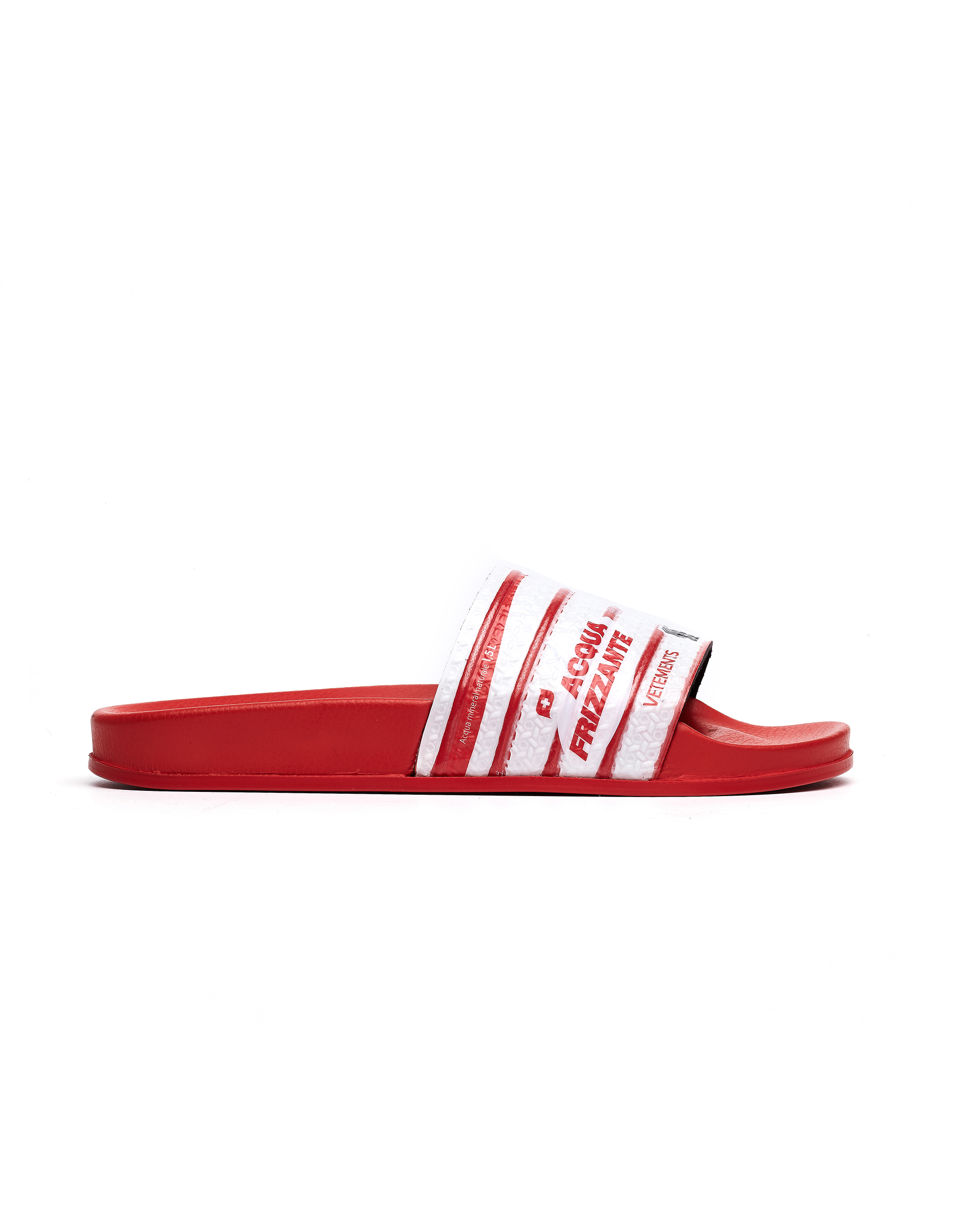 Vetements Red Printed Slides