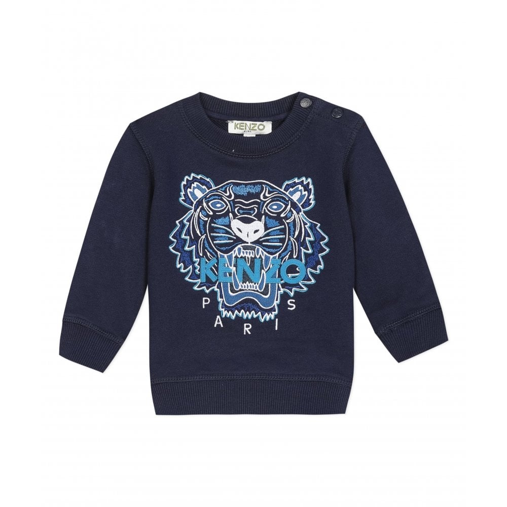 Kenzo Tiger Sweatshirt Size: 18M, Colour: BLACK