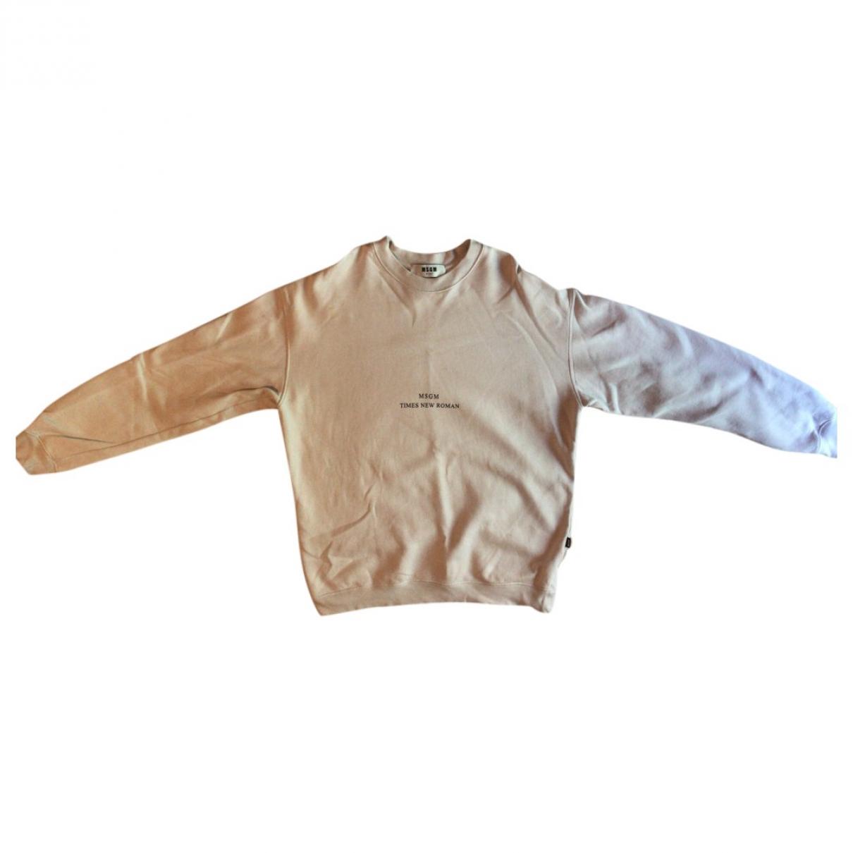 Msgm - Tee shirts   pour homme en coton - blanc