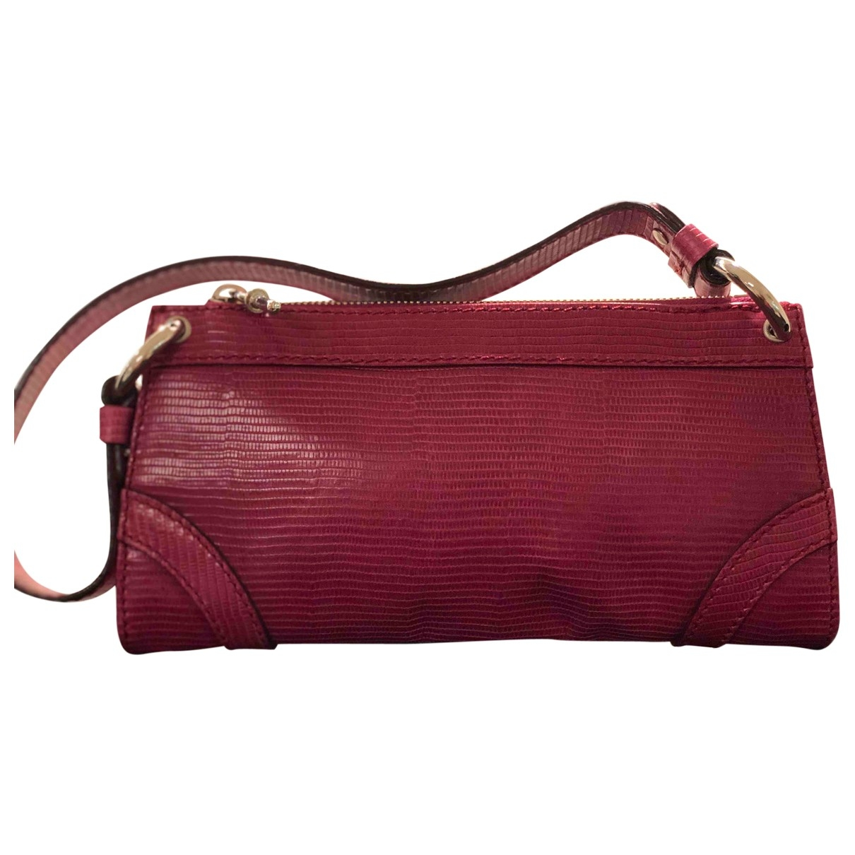 Burberry \N Clutch in  Rot Leder