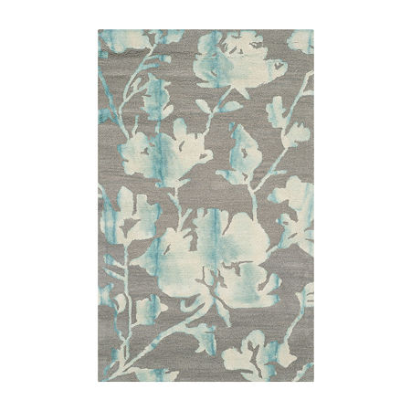 Safavieh Dip Dye Collection Jessie Floral Area Rug, One Size , Multiple Colors