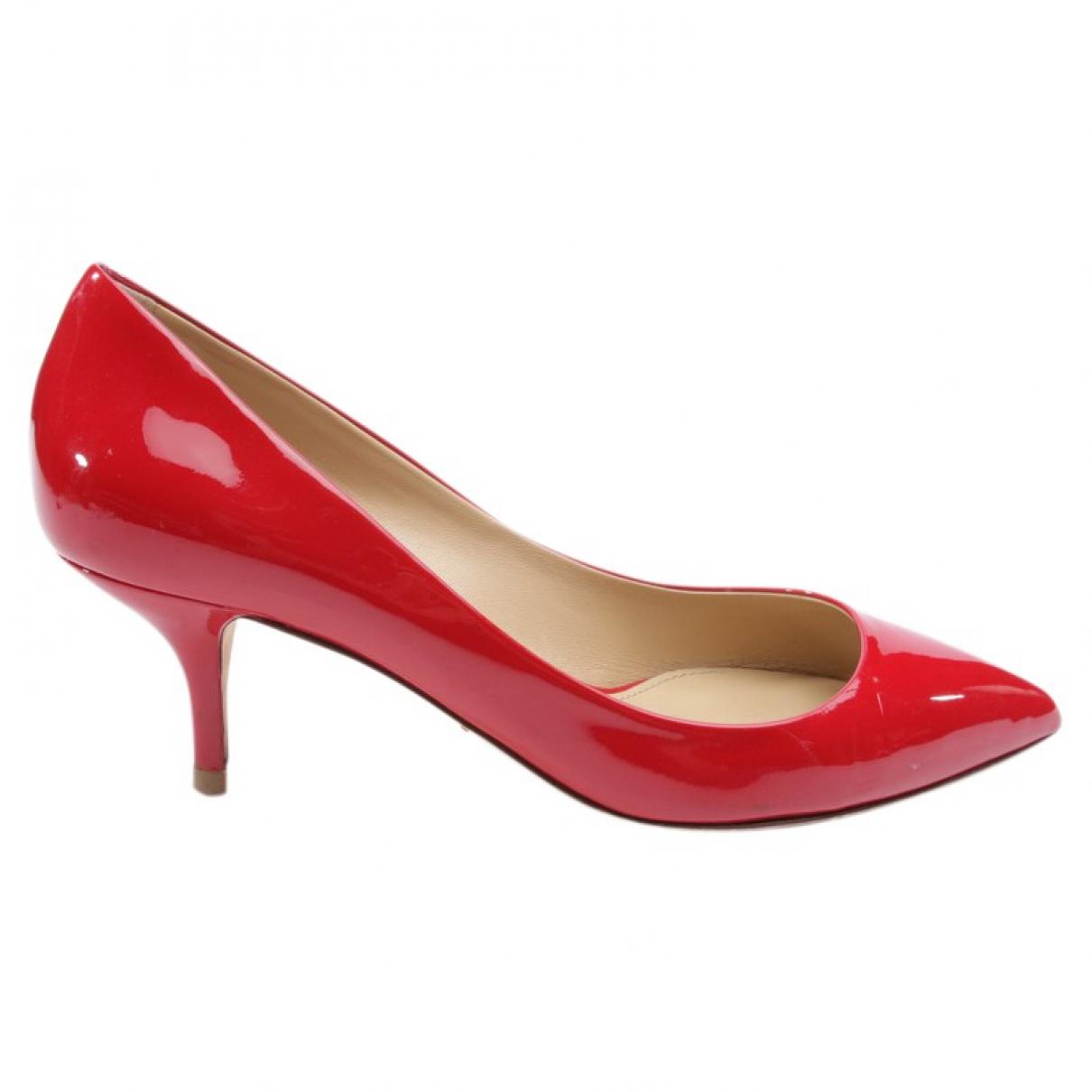Dolce & Gabbana - Escarpins   pour femme en cuir - rouge
