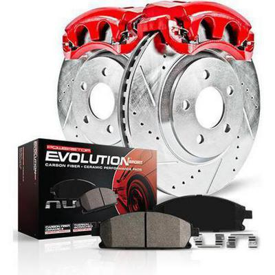 Power Stop 1-Click Performance Brake Kit with Calipers (Natural) - KC4611