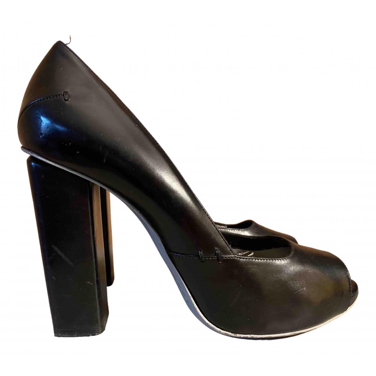 Costume National \N Black Leather Heels for Women 40 EU