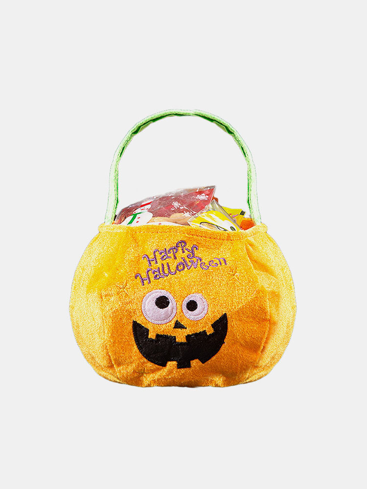 Women Non-woven Fabric Candy Bag Halloween Pumpkin Handbag