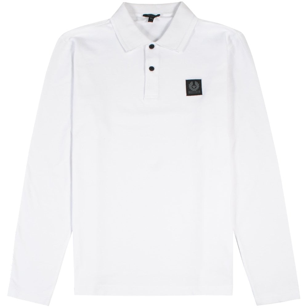Belstaff Selbourne Long Sleeve Polo Colour: WHITE, Size: SMALL