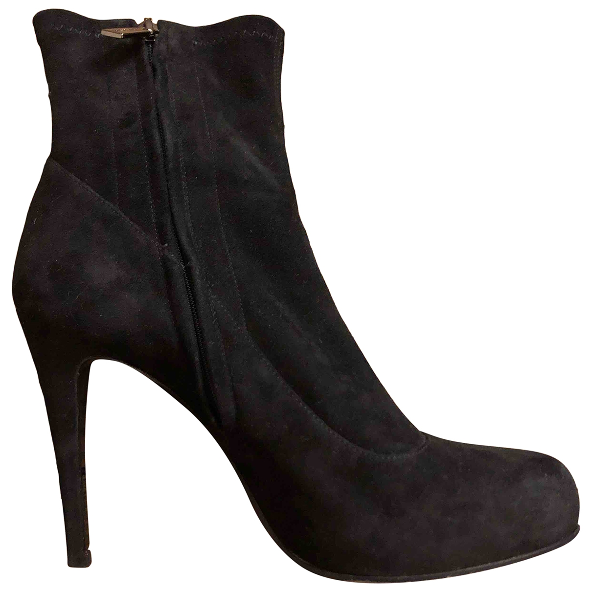 Bruno Magli \N Black Suede Boots for Women 38 EU