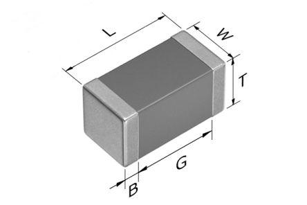 TDK 0603 (1608M) 5pF Multilayer Ceramic Capacitor MLCC 100V dc ±0.25pF SMD CGA3E2NP02A050C080AA (4000)