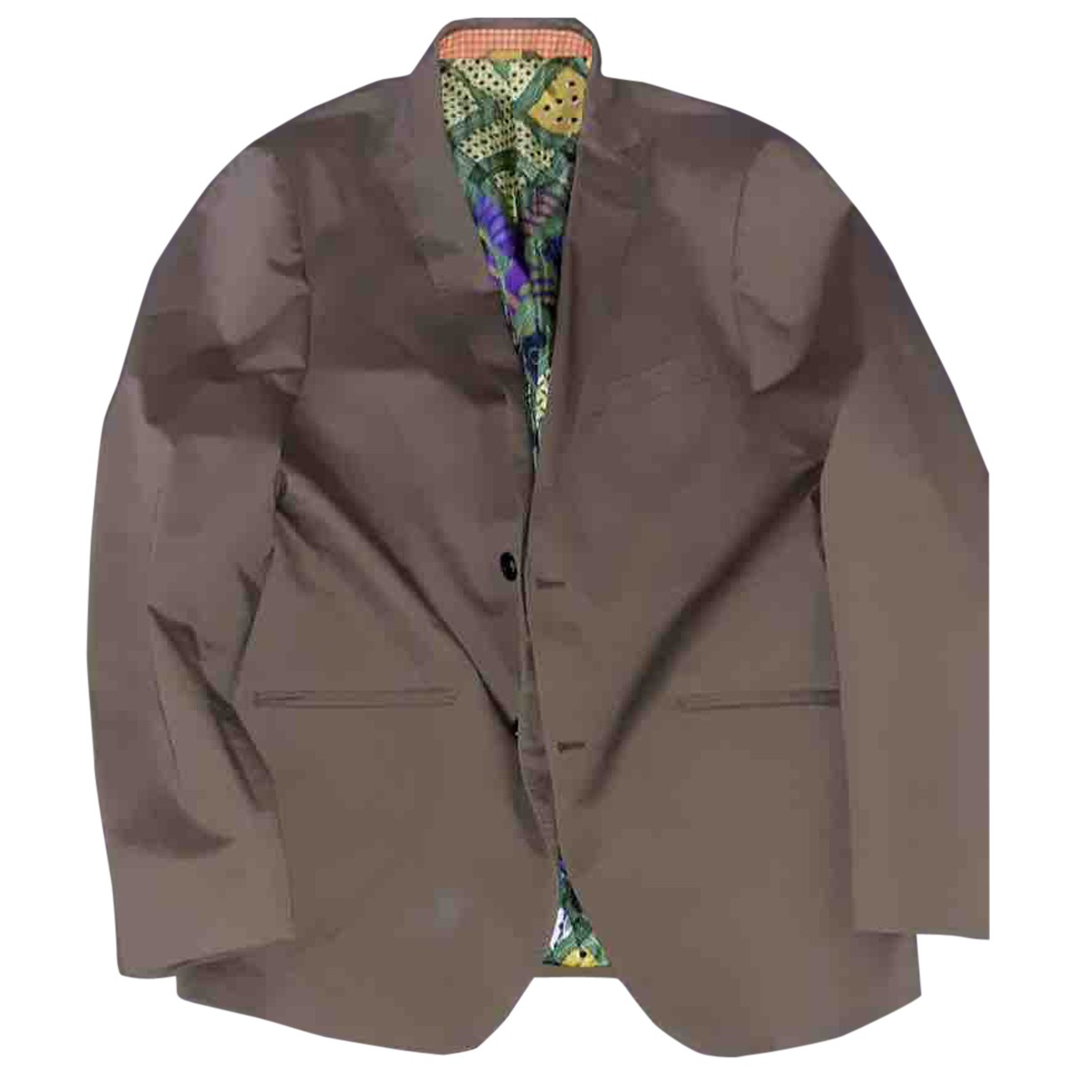 Etro N Khaki Cotton jacket  for Men 56 IT