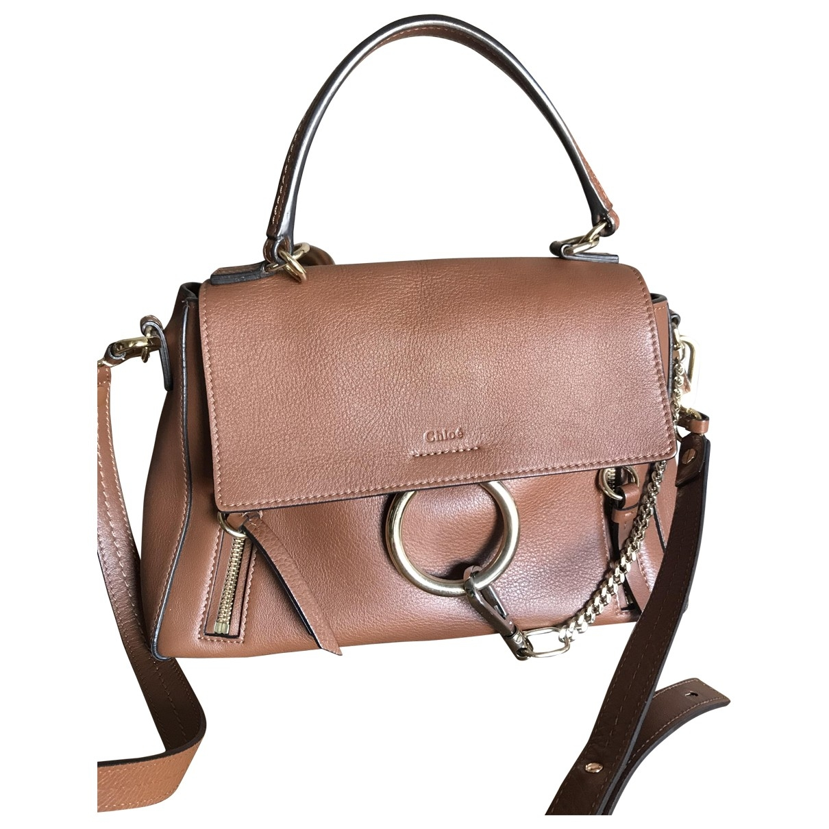 Chloé Faye day Camel Leather handbag for Women \N