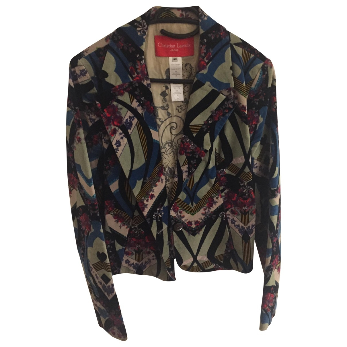 Christian Lacroix \N Multicolour Velvet jacket for Women 40 FR