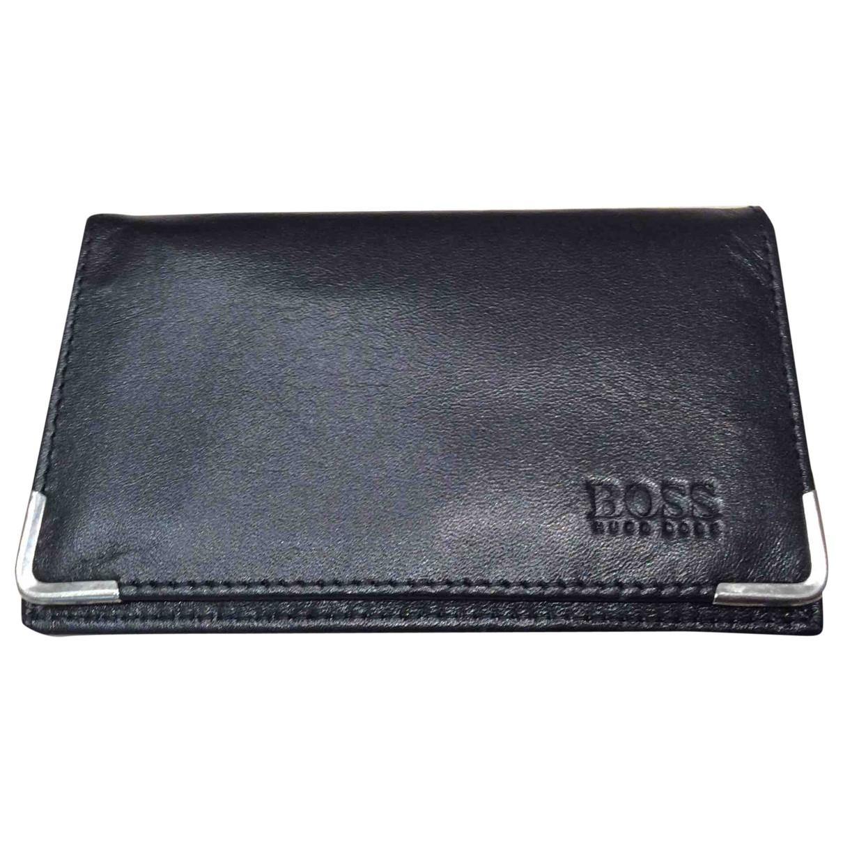 Boss \N Black Leather Small bag, wallet & cases for Men \N