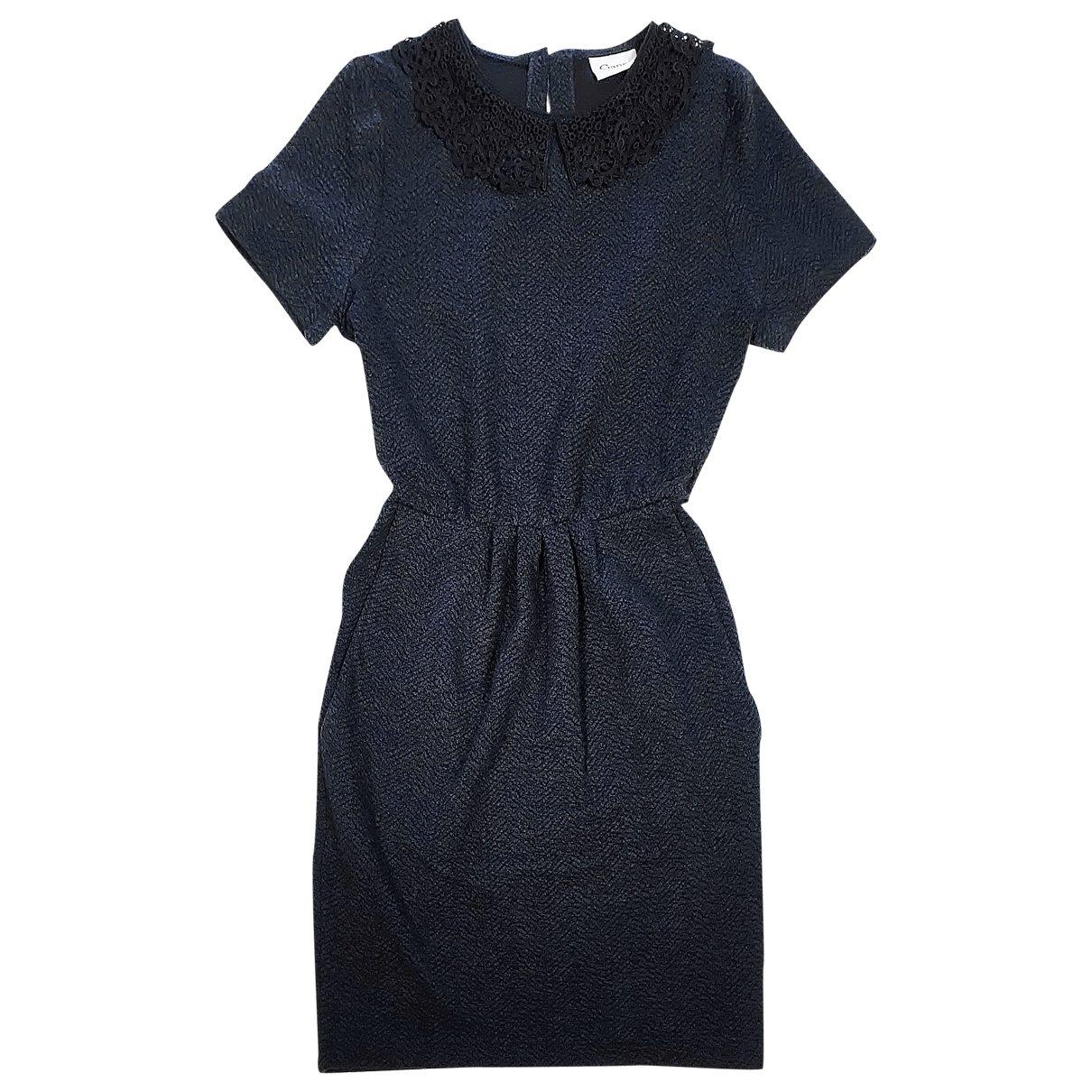 Ganni \N Kleid in  Blau Synthetik