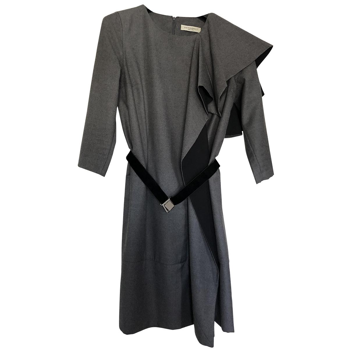 Viktor & Rolf - Robe   pour femme en laine - gris