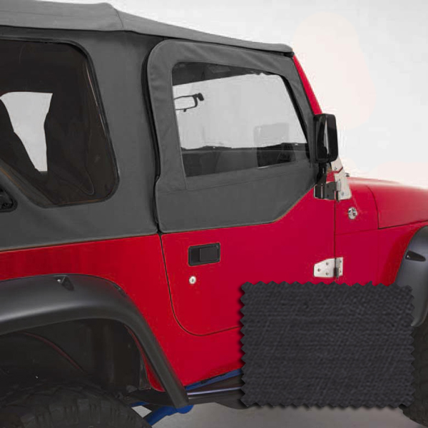 Rugged Ridge 13714.15 Door Kit, Upper, Black Denim; 97-06 Jeep Wrangler TJ Jeep Wrangler 1997-2006