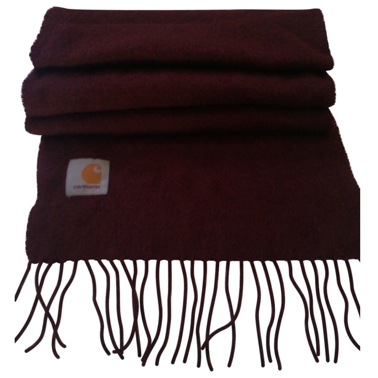 Carhartt \N Burgundy Wool scarf & pocket squares for Men \N