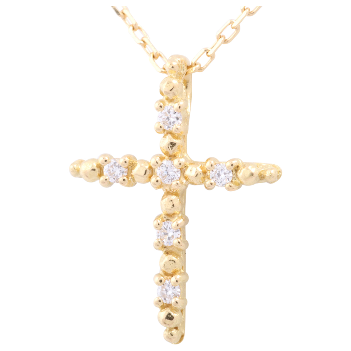 Non Signe / Unsigned Croix Kette in  Gold Gelbgold