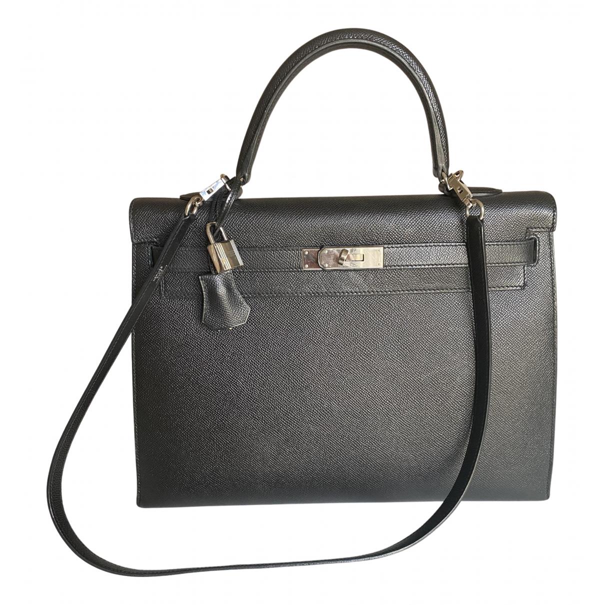 Hermes Kelly 35 Handtasche in  Schwarz Leder