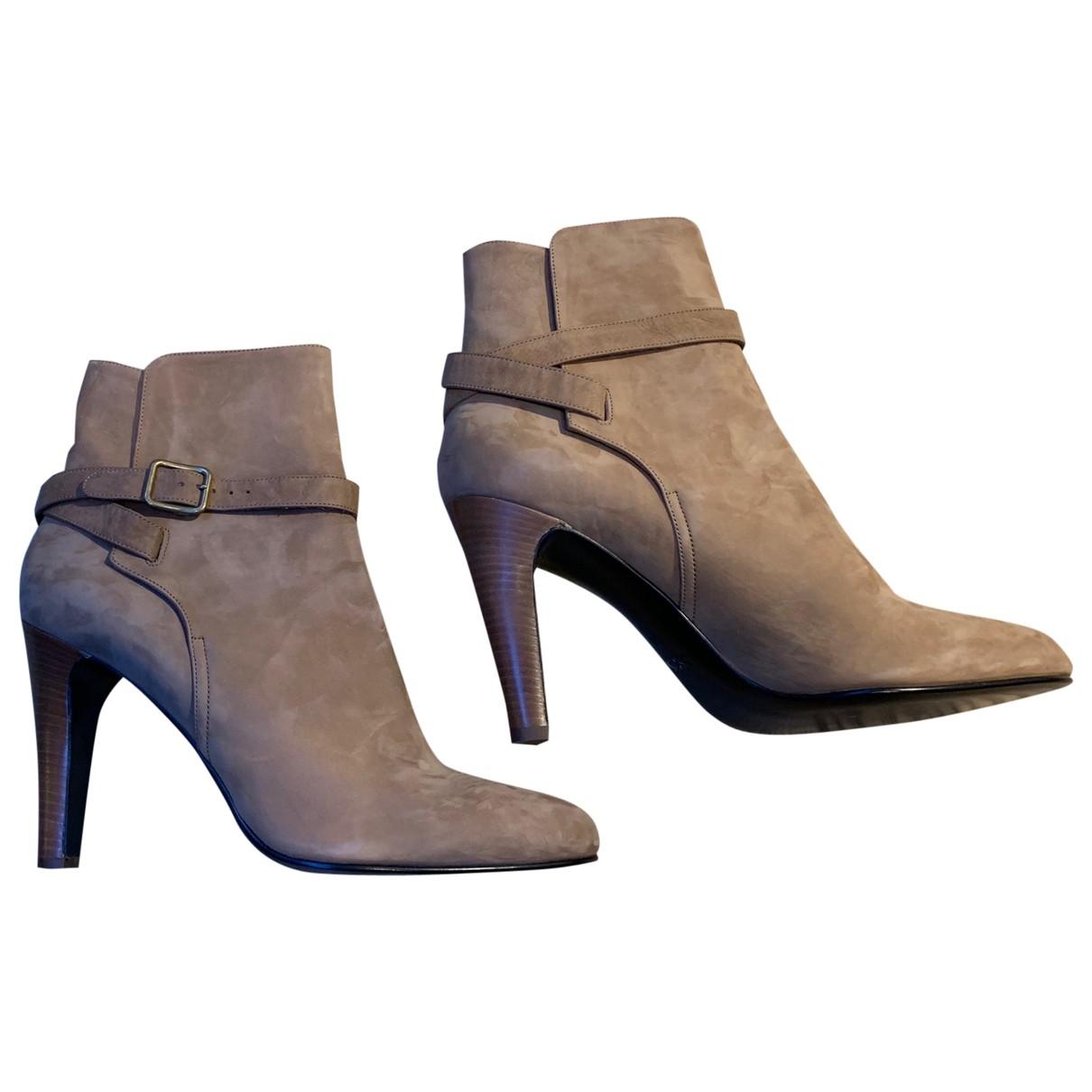 Michel Vivien - Boots   pour femme en suede - camel