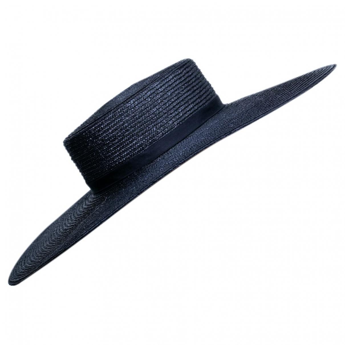 Chanel N Black Wicker hat for Women M International