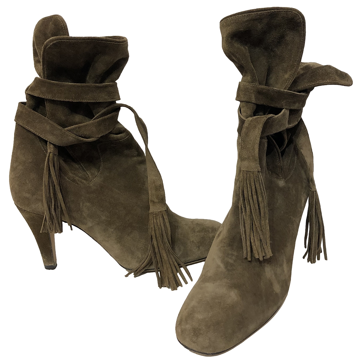 Chloé \N Brown Suede Ankle boots for Women 39.5 EU