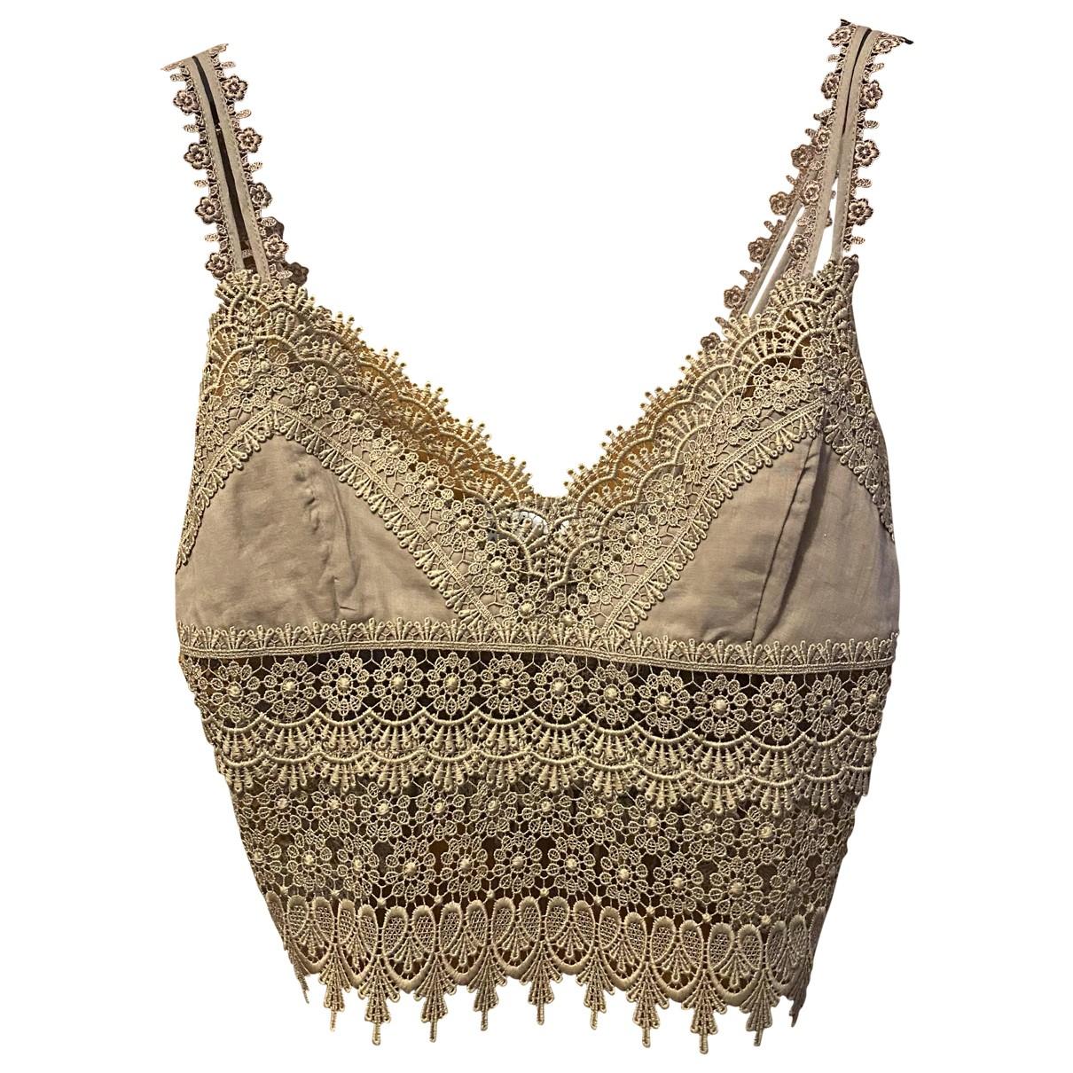 Charo Ruiz - Top   pour femme en coton - beige