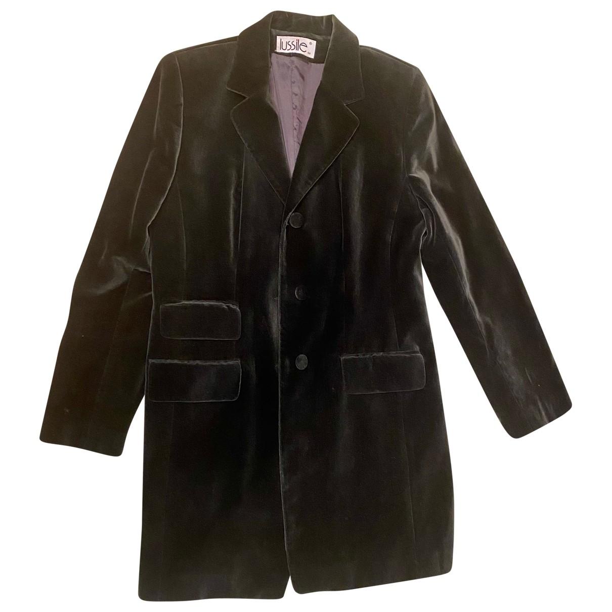 Non Signé / Unsigned N Grey Velvet jacket for Women M International
