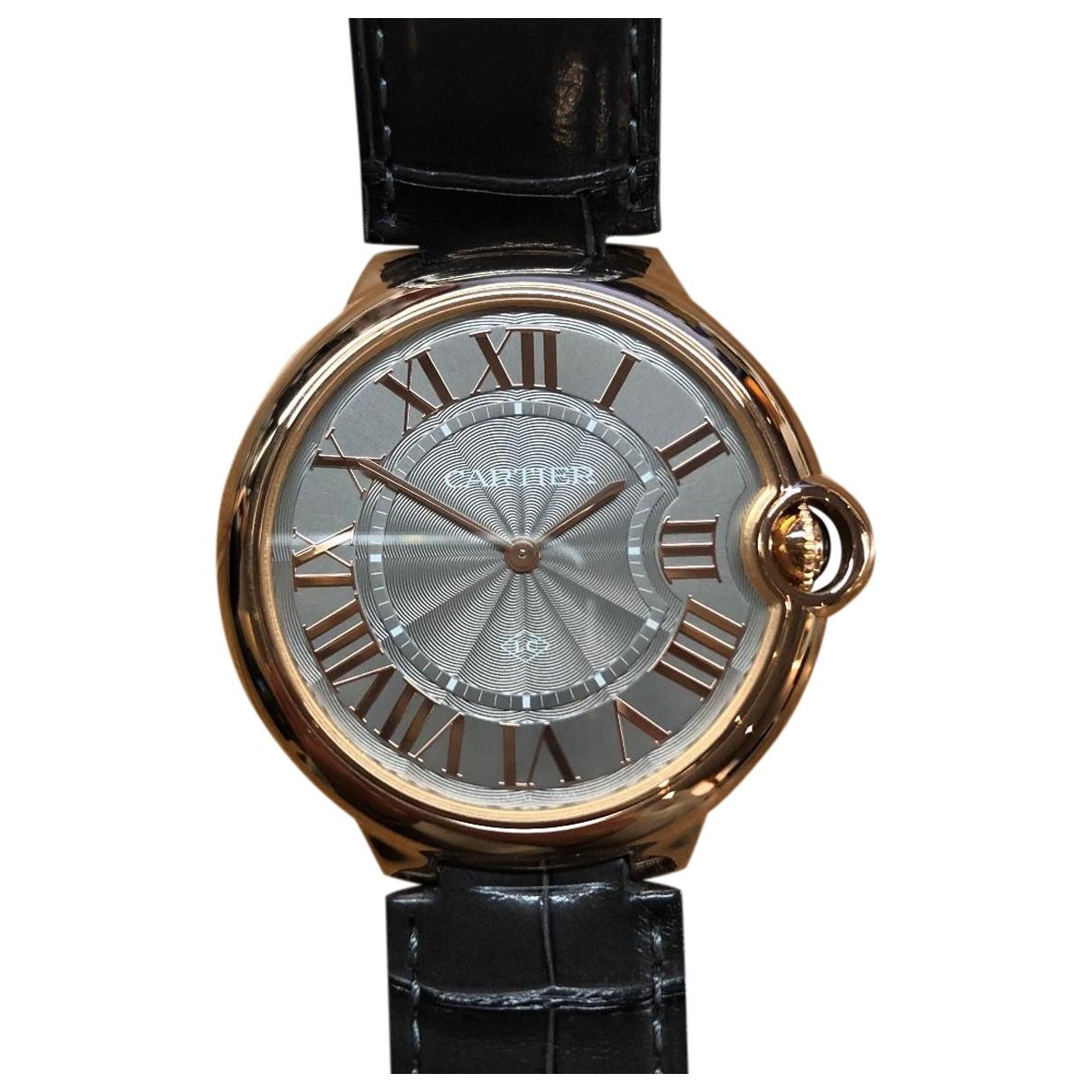 Cartier Ballon bleu Grey Pink gold watch for Men \N