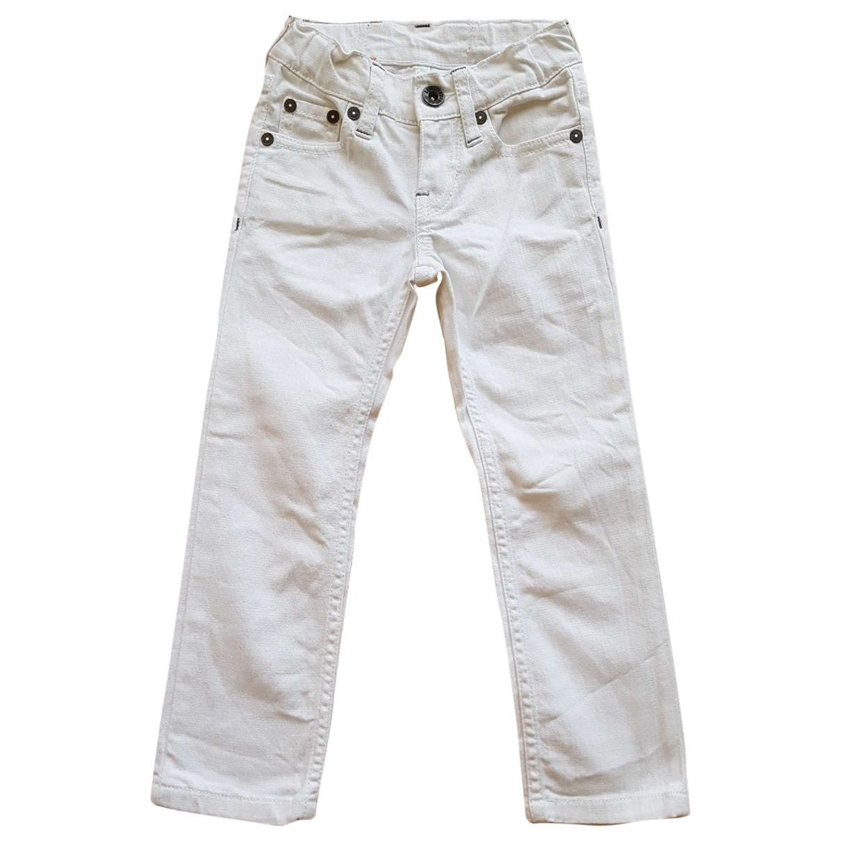 Levi's \N White Cotton Trousers for Kids 3 years - up to 98cm FR