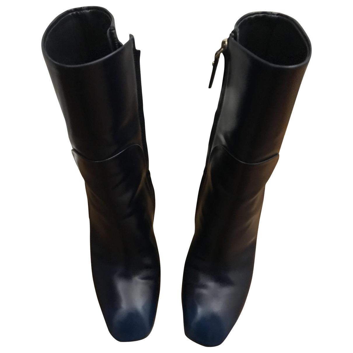 Louis Vuitton - Boots   pour femme en cuir - bleu