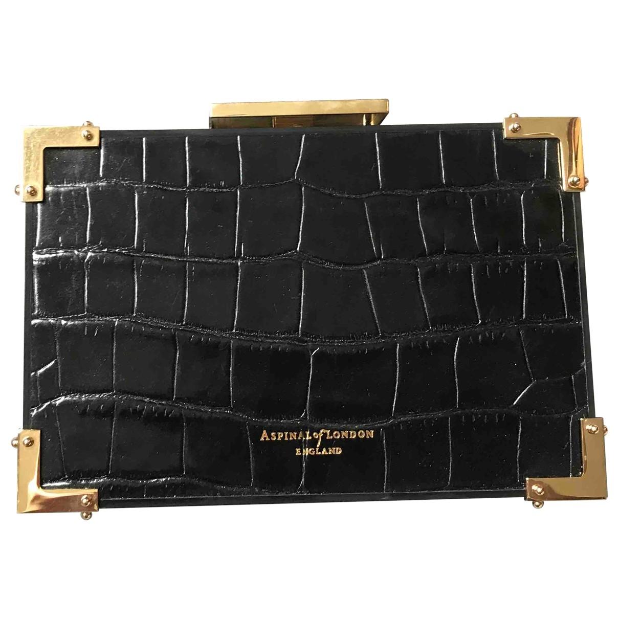 Aspinal Of London - Pochette   pour femme en cuir - noir