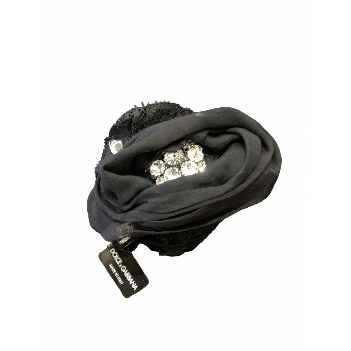 Dolce & Gabbana \N Black Crystal Hair accessories for Women \N