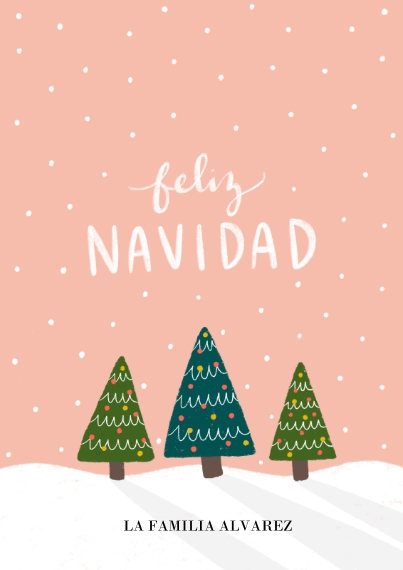 Tarjetas de Navidad Flat Glossy Photo Paper Cards with Envelopes, 5x7, Card & Stationery -Bosque De Navidad