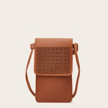 Hollow Out Flap Phone Bag