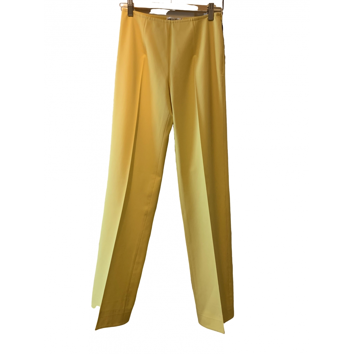 Angel Schlesser \N Yellow Trousers for Women 38 FR