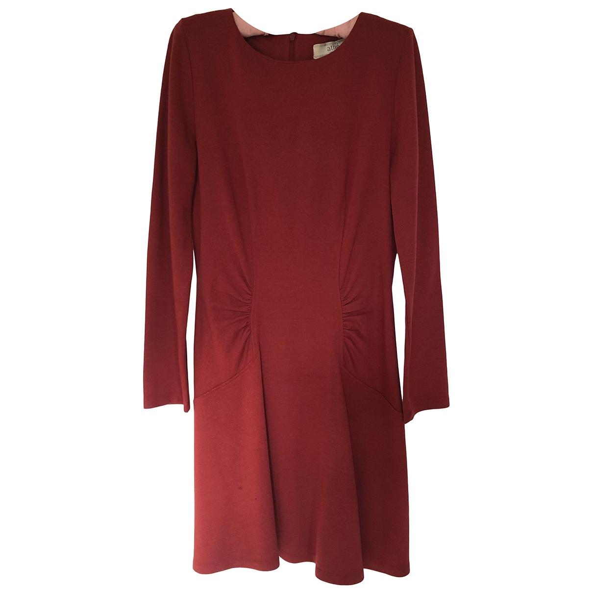 Vanessa Bruno Athe - Robe   pour femme en laine - rouge