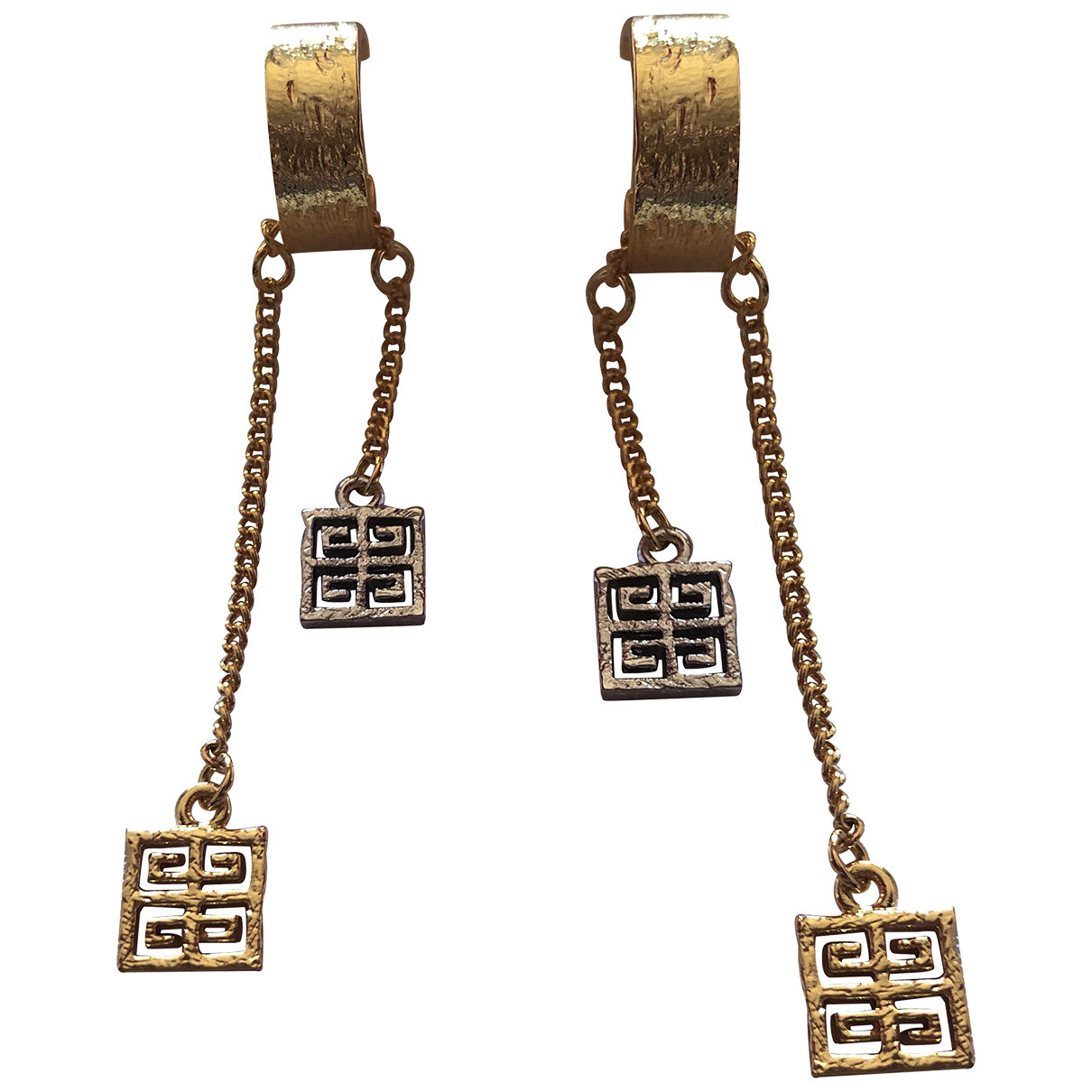 Givenchy N Gold Metal Earrings for Women N