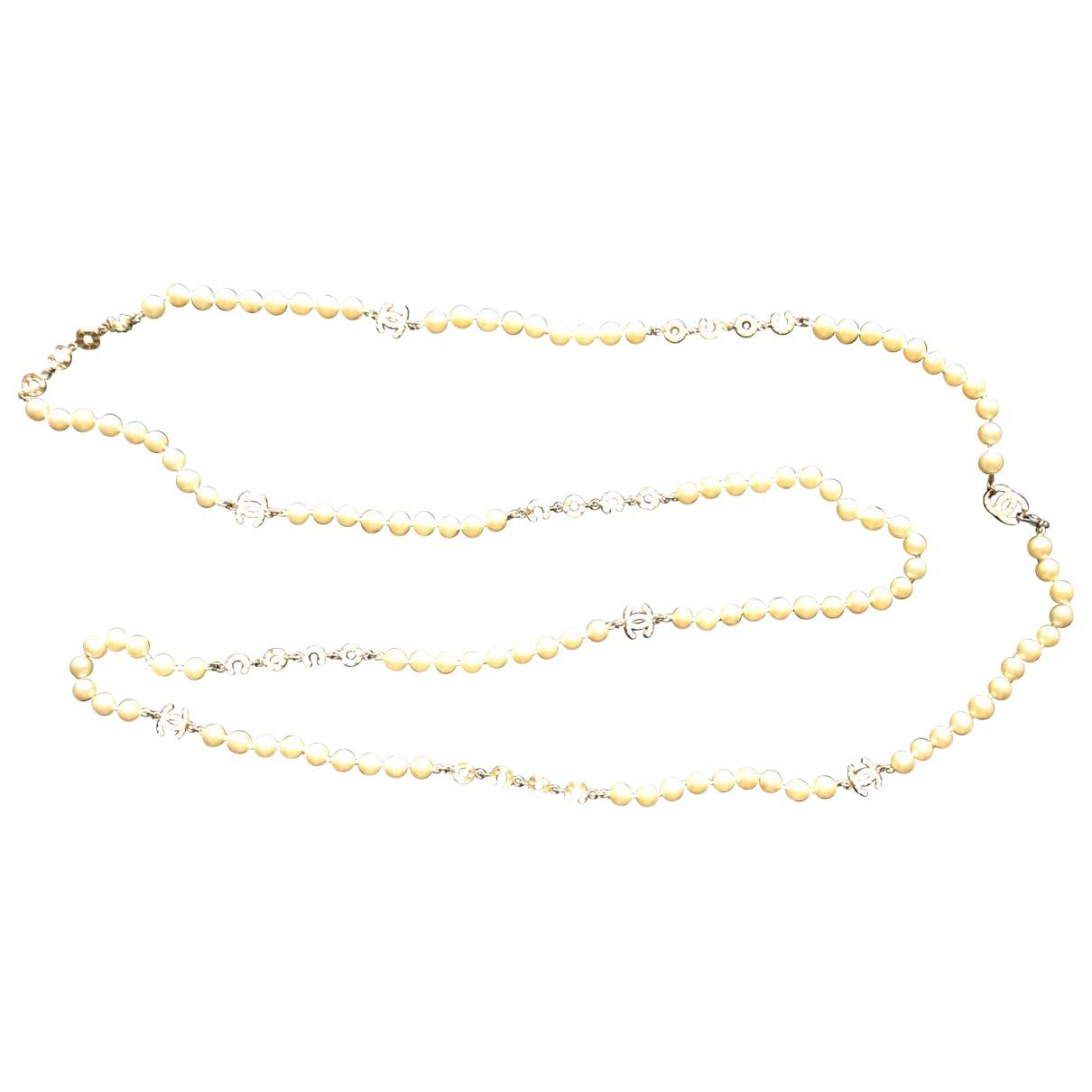 Chanel - Collier   pour femme en perles - ecru