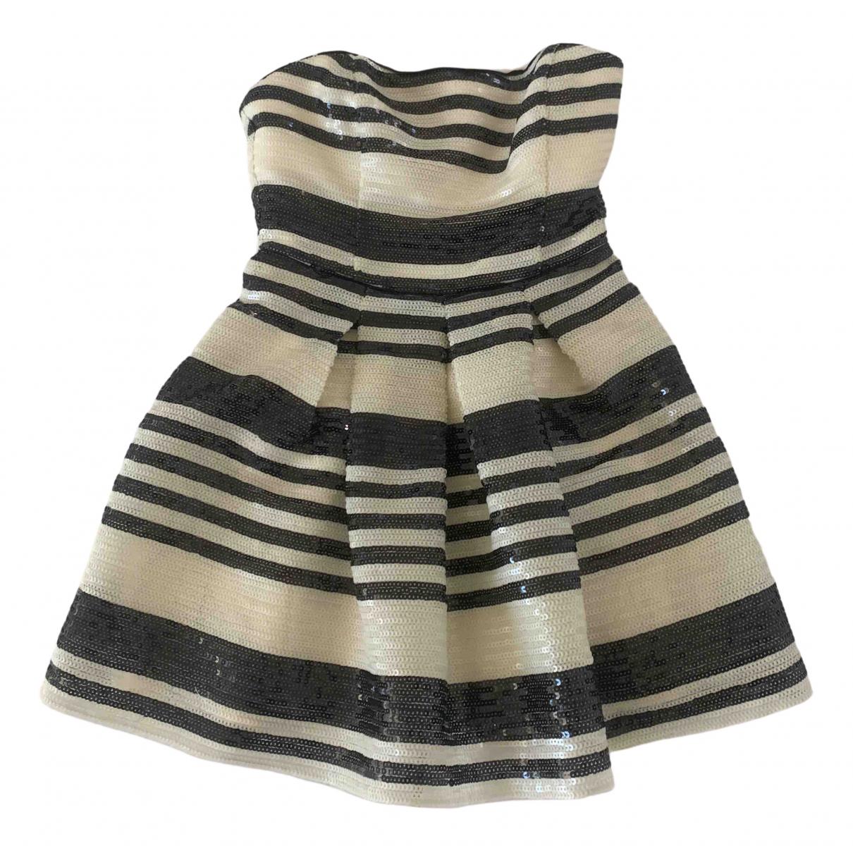Non Signe / Unsigned \N Kleid in  Ecru Mit Pailletten