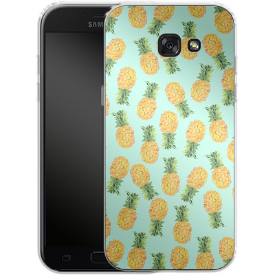 Samsung Galaxy A5 (2017) Silikon Handyhuelle - Pineapple von Amy Sia