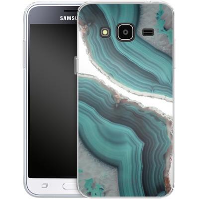 Samsung Galaxy J3 (2016) Silikon Handyhuelle - Sea Agate von Emanuela Carratoni