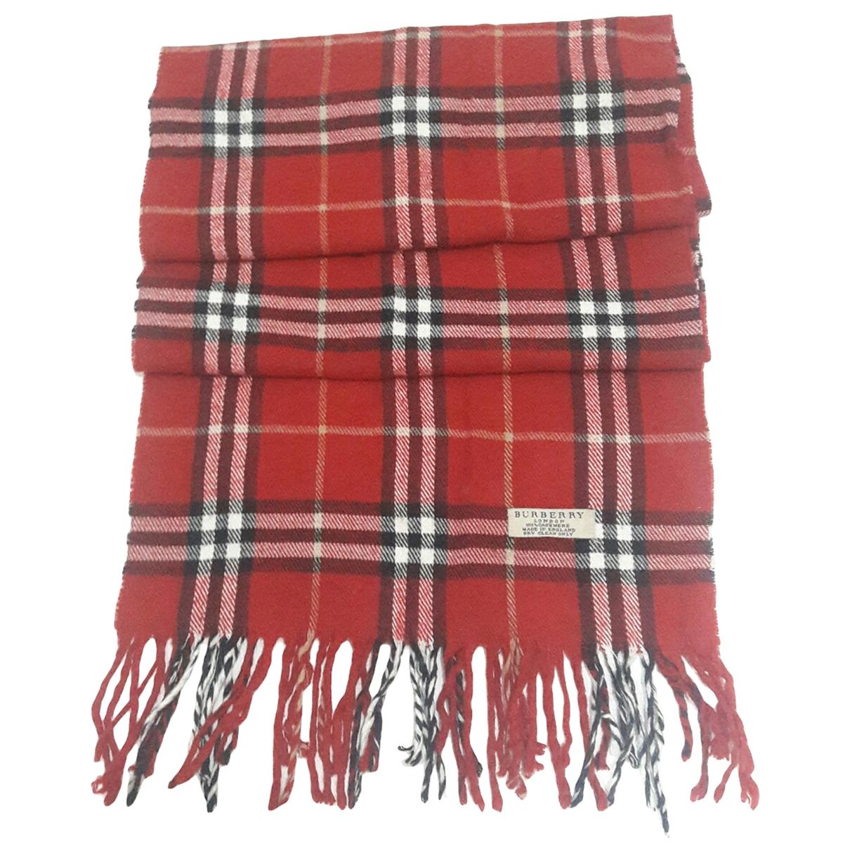 Burberry - Foulard   pour femme en cachemire - rouge