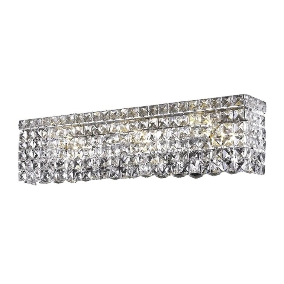 Fleur Illumination 6 light Chrome Wall Sconce (elegant cut crystals/Chrome)