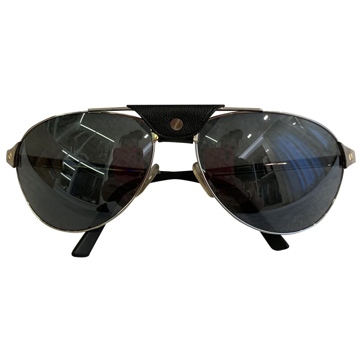 Cartier \N Black Metal Sunglasses for Women \N