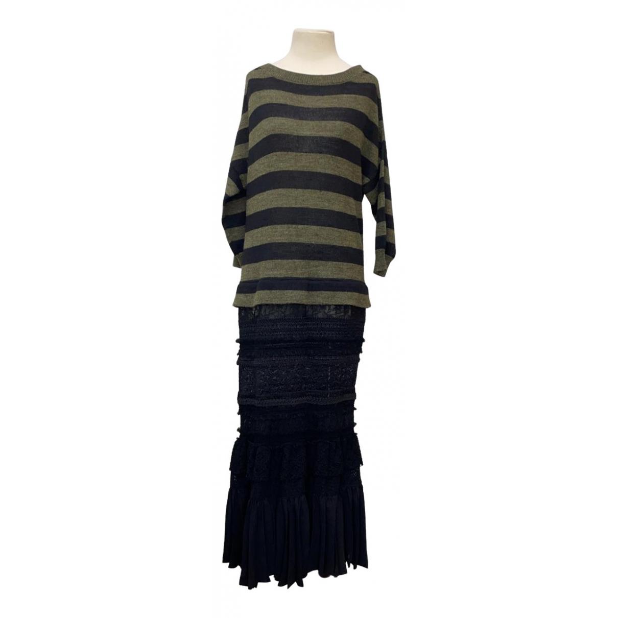 Junya Watanabe - Robe   pour femme en laine - kaki