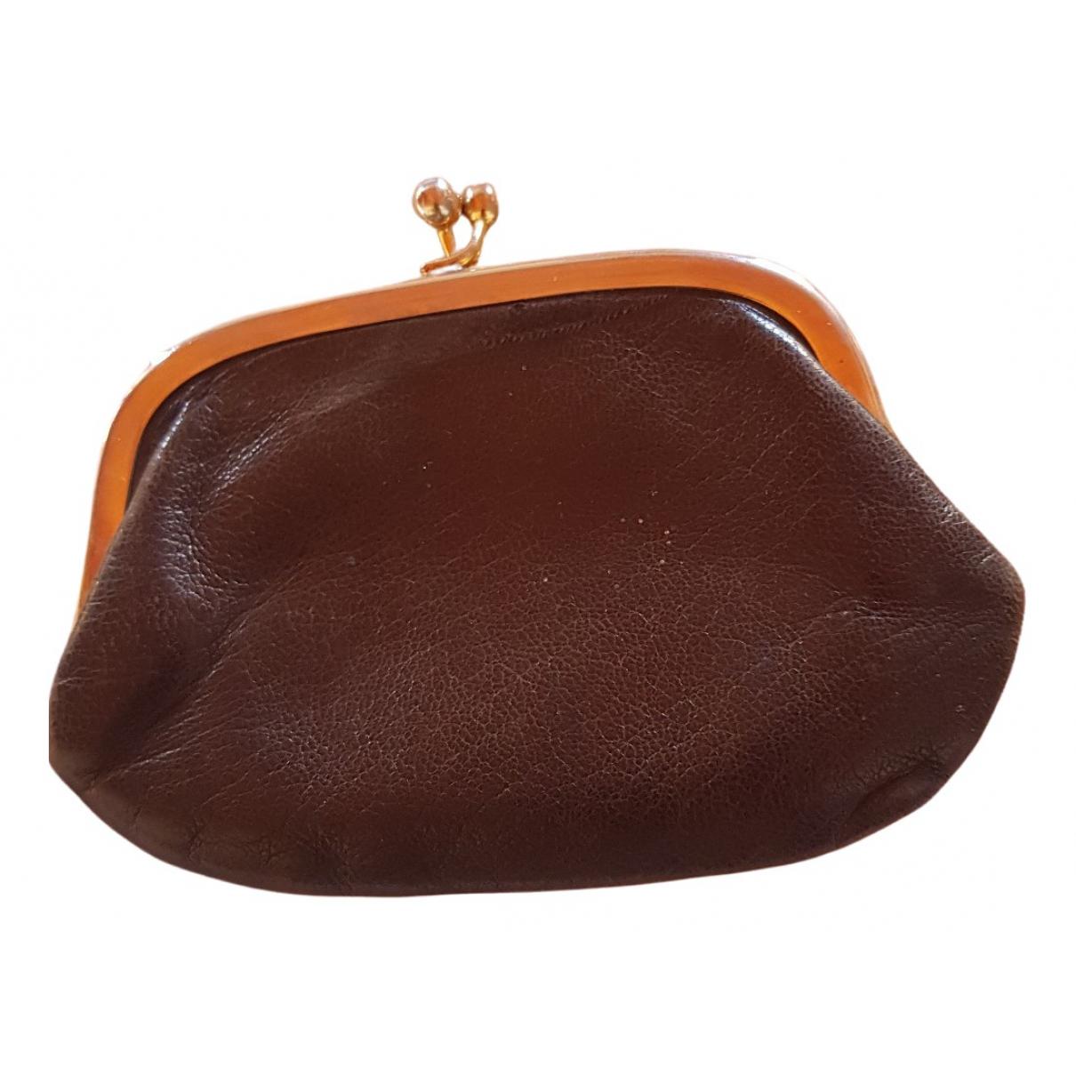 - Petite maroquinerie   pour femme en cuir - marron