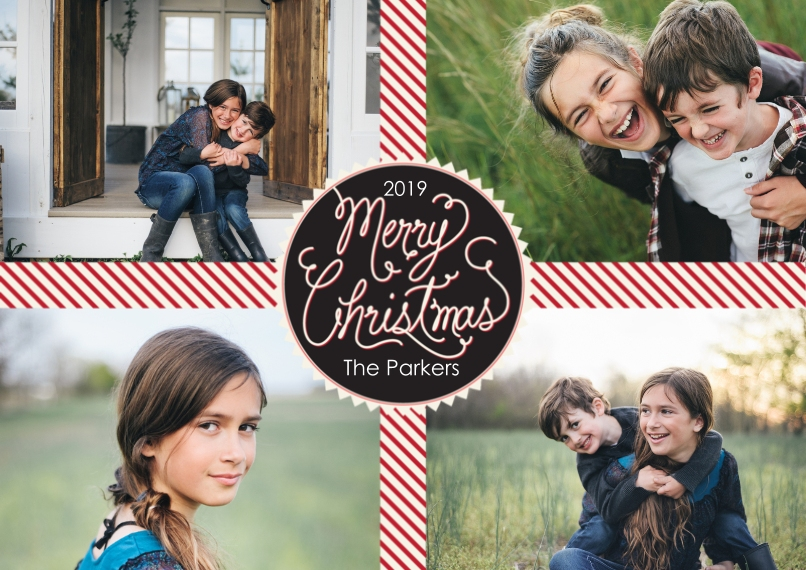 Christmas Photo Cards 5x7 Cards, Standard Cardstock 85lb, Card & Stationery -Perfect Present
